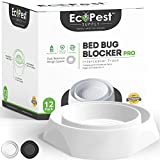 Bed Bug Interceptors - 12 Pack   Bed Bug Blocker (Pro) Interceptor Traps (White)   Insect Trap, Monitor, And Detector For Bed Legs