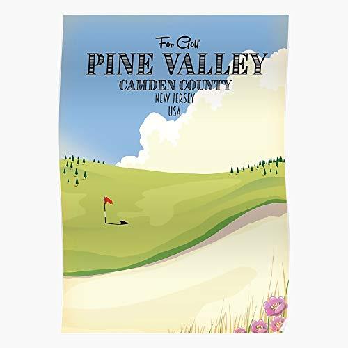 Pine Camden Green Golfing New Valley Flag Golf Love Home Decor Wandkunst drucken Poster !