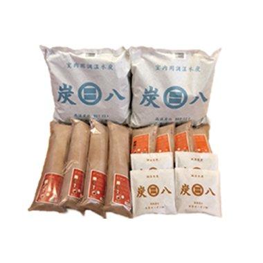 出雲カーボン 炭八 4種類 14袋 ( 室内用2+押入れ用4+タンス用4+スマート小袋4セット )