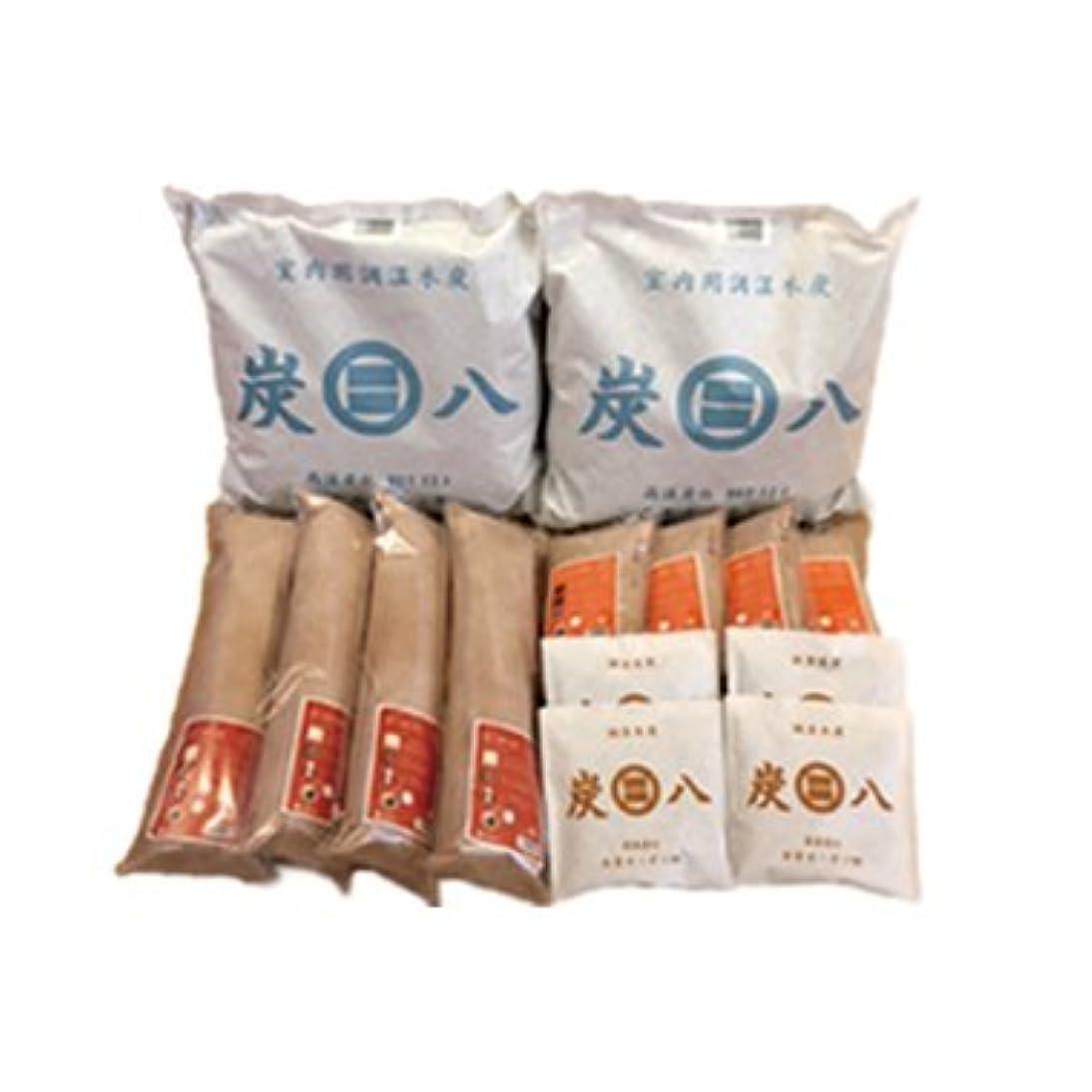 ペチコート熱帯の闘争出雲カーボン 炭八 4種類 14袋 ( 室内用2+押入れ用4+タンス用4+スマート小袋4セット )