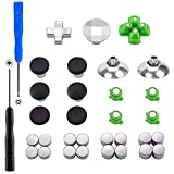 XFUNY PS4 Swap Thumbsticks All Mod Metal Button Replacement Parts Fits for PS4...