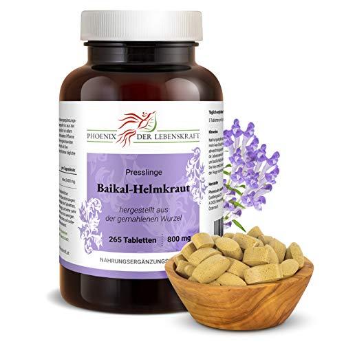 Baikal-Helmkraut Tabletten à 800mg (Scutellaria baicalensis), 265 Tabletten, Premium Qualität, Hergestellt in Österreich, Tabletten statt Kapseln, Vegan