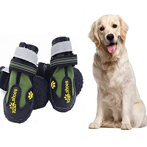 VICTORIE Hundeschuhe Pfotenschutz Regenschutz Hundestiefel Wasserdicht Für Haustier Kleine Mittlere Und Große Hunde 4 Stücke Tarnfarbe M
