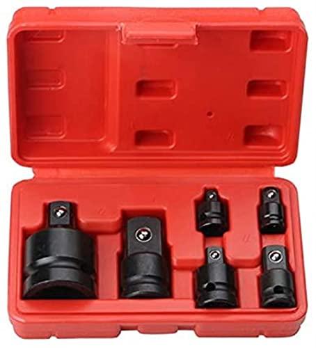 Llave de 6 piezas Mini llave de tubo Juego de herramientas de mano 1/4 1/2 3/8 3/4 Juego de llaves de accionamiento de trinquete Juego de llaves de adaptador de manguito neumático Herramientas de repa