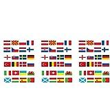 Nicejoy 2021 Banderines Europeos Eurovision Bandera Bunting con Todos Los 24 Equipos Participantes Que Golpean Indicadores para El Jardín Bar Restaurante Y La Decoración del Partido 3pcs
