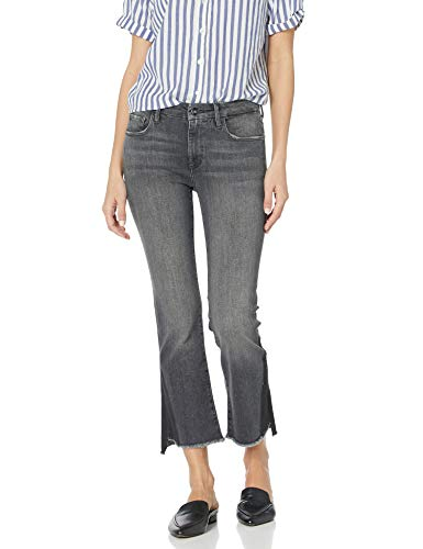Madison Denim Women's Bleeker Crop Flare Jean Shadow 25 Pebble