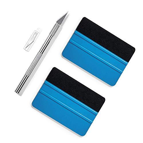 Ewrap Kit di strumenti per avvolgere vinile Strumento per carta da parati con tergivetro in feltro, coltello in vinile per pellicola, vinile per auto, vetri per vetri