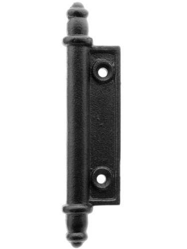 House of Antique Hardware R-09DE-148 Galvanized Iron Faux Shutter Hinge with Black Powder-Coated Finish