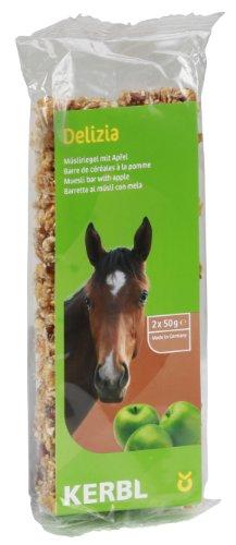 Kerbl Cheval Barre de Céréales Delizia 2x50 g Pomme Lot de 2