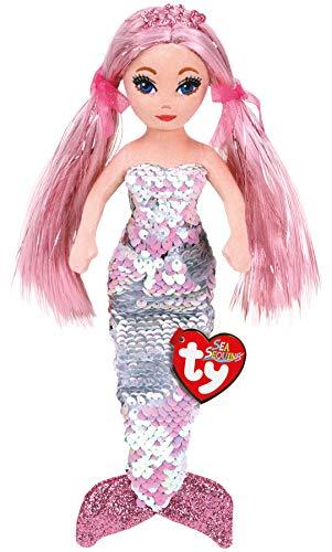 Ty TY02100 CORA Pink Sequin Mermaid REG, Multicolored