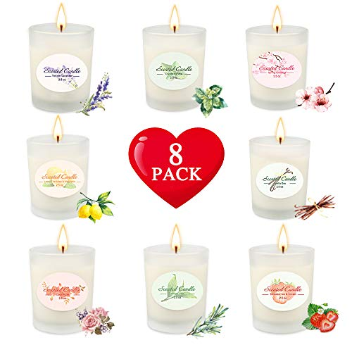Candles,Gifts for Women Scented Soy Aromatherapy Candle Sets,Relaxing Candle for Bath Spa Meditation, Relaxation Gifts for Mom Birthday,Made with 20 oz Soy Wax,Christmas Anniversary Women Gifts