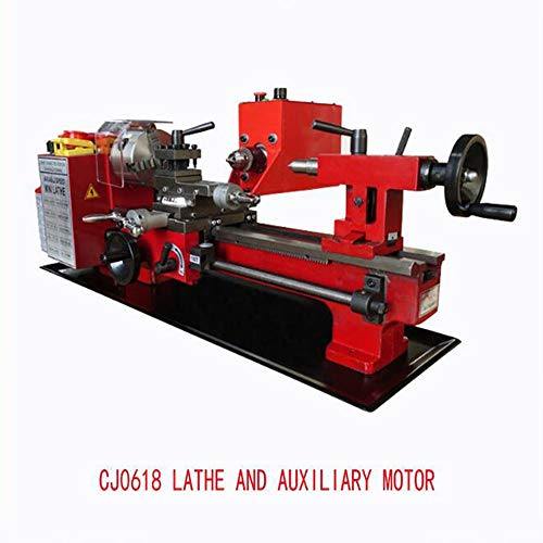 Best Bargain MEIJIQI Mini Lathe Mini CNC Turning Lathe Machine Wood Lathe with Auxiliary Motor