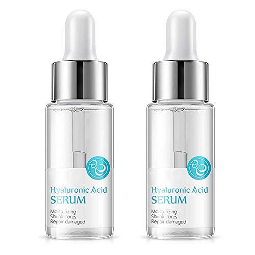 myf 15ml 100% Strong Hyaluronic Acid Serum Anti Wrinkle Face Cream Moisturiser,Vitamin C Serum For Face With Hyaluronic Acid Serum (2pcs)