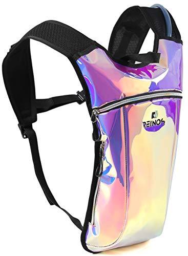 Hydration Backpack - Light Water Pack - 2L Water Bladder Included for Running, Hiking, Biking, Festivals, Raves