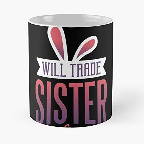 Candy Easter Sister Bunny Funny Holiday Colorido mejor taza de café de cerámica de 315 ml Eat Food Bite John Best Taza de café de cerámica de 315 ml