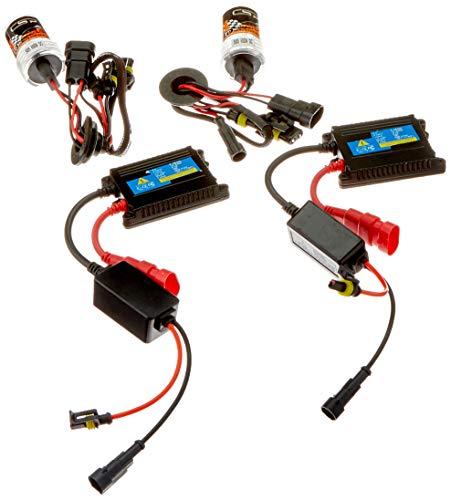 Akhan Digital 9-32V 35W CANBUS Xenon Kit Nachrüstsatz HB3 6000 Kelvin inkl. HID Vorschaltgerät, Xenon Brenner Lampe und Montage Material ohne Fehlermeldung und ohne Flackern