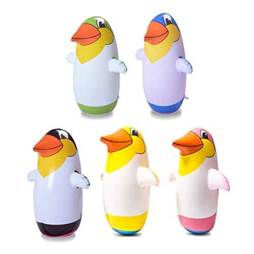 Sarplle 5 Stücke Aufblasbare Pinguin Spielzeug Weichen Tumbler Party Zubehör für Babys Kinder-Party