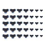 Akozon 35pcs Tubo OD 4/6/8/10/12/14/16mm Tee Unión Neumática/T Unión Quick Connect Válvula Neumático Quick Fitting para la Conexión Rápida de Tuberías de Aire