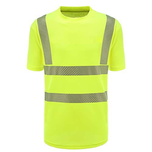 Warnschutz T-Shirt Warnschutzshirt Warnshirt (Gelb, M)