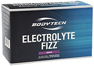 BodyTech Electrolyte Fizz Packets, Grape Supports Energy Endurance with 1200MG of Vitamin C, On The Go Refreshment (32 Packets)