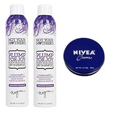 Not Your Mother's 2 Pack Plump For Joy Body Building Dry Shampoo 7 Oz.+ Travel Size Body Cream 1 Oz.
