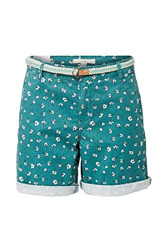 ESPRIT Damen Mit Gürtel, Bermuda Shorts, 370/TEAL Green 2, 40