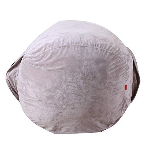 Youngshion Sitzsack für Kinder, weich, flauschig Charpie, einfarbig, gefüllt, für Spielzeug, Kleidung, Decken, Organizer, Schlafsofa, canvas, grau, 96,5 cm (38 zoll)