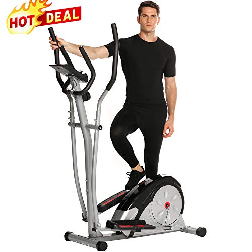 ANCHEER Elliptical Machine Trainer Magnetic Smooth Quiet Drive