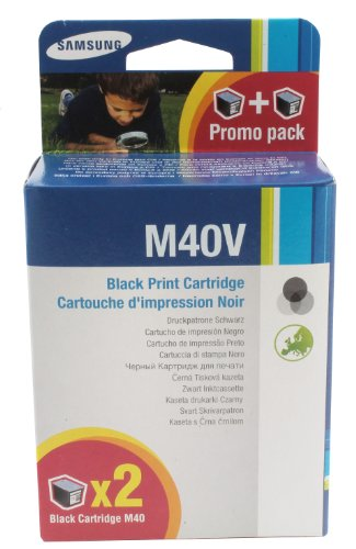 Samsung INK-M40V/ELS Original Tintenpatrone - Twin Pack (Kompatibel mit: SF-33x/SF-34x/SF-36x Series) schwarz