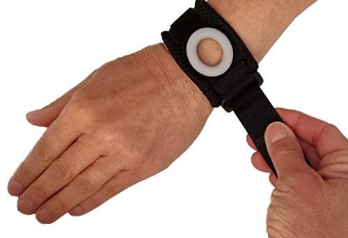 Bullseye Wrist Band (S/M) - TFCC Wrist Brace, Support for Ulnar Sided Wrist Pain - Fits Wrist Circ. 5.5'-7',  DRUJ Instability