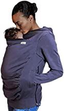 Boba Hoodie, Grey (Small) Baby Carrier Cover Hooded Sweatshirt