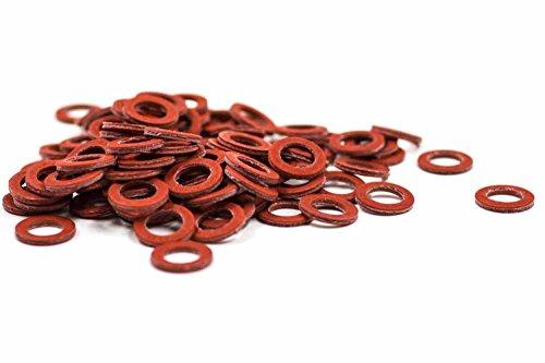 Vlakke afdichting Washer zegel Gevulkaniseerde vezel zonder lijm of additieven type 110 voor pompmotoren isolatieonderdelen industriële ventielen enz. (tot 110 °C) Meerdere maten en hoeveelheden 3/2 Zoll = 44.5 x 36 x 2 mm