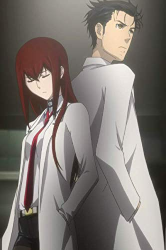 Steins Gate Okabe Rintaro Makise Kurisu Notebook: Journal for Teens, Weebs, Adults, and Mad Scientists (6 x 9 in.)