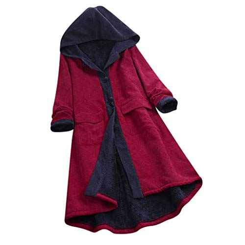 Buy Discount Dainzuy Womens Winter Warm Thick Long Jacket Fur Lining Hooded Parka Coat Long Sleeve C...