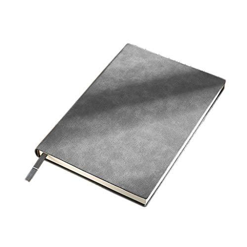 WPBOY Cuaderno de notas de piel de oveja A5 clásico de escritura de cuero suave, de 21 x 14,5 cm, 20,8 x 14,5 cm, página interior de 20,5 x 14,2 cm, cuaderno diario de 8 x 5,5 pulgadas (color gris)
