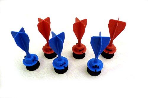 Armbrust Ersatzpfeile Gapola drei rote und drei blaue