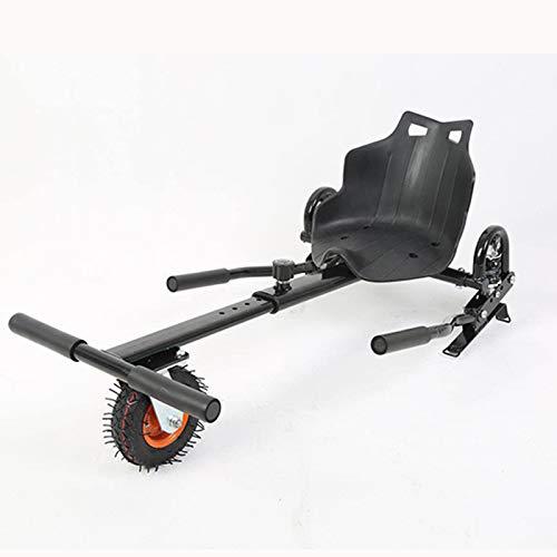 KMZ EDICIÓN Mejorada Hoverboards Black Adjunto, Ajustable Gokart Racer Hoverkart, Adecuado para Todas Las Edades, Smart Self Balance Scooter, Encaja 6.5, 8,10 Pulgadas.