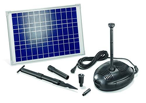 Juego de bombas solares para estanque Roma 25 W, módulo solar 1300 l/h, capacidad de extracción para estanque de jardín 101722