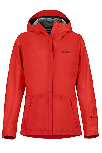 Marmot Damen, Wm's Minimalist Jacket Hardshell Regenjacke, wasserdicht, winddicht & atmungsaktiv, Victory Red, M