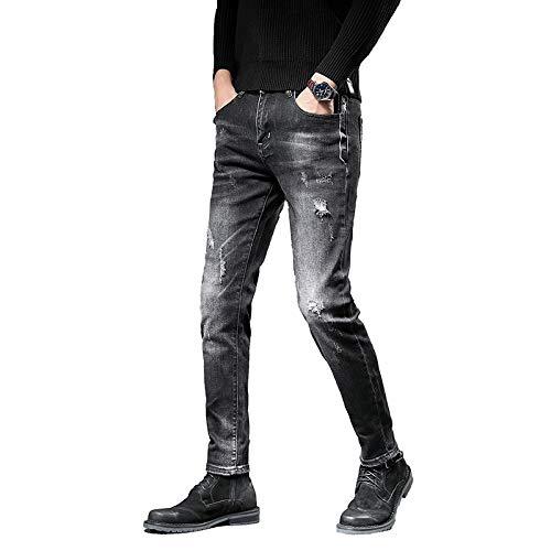 Jeans para Hombres Primavera y Verano Nueva Tendencia Jeans Sueltos Americana Jeans Casuales 28