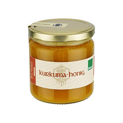 Honig mit Kurkuma - 100% Bio Honig trifft Kurkuma aus biologischem Anbau,