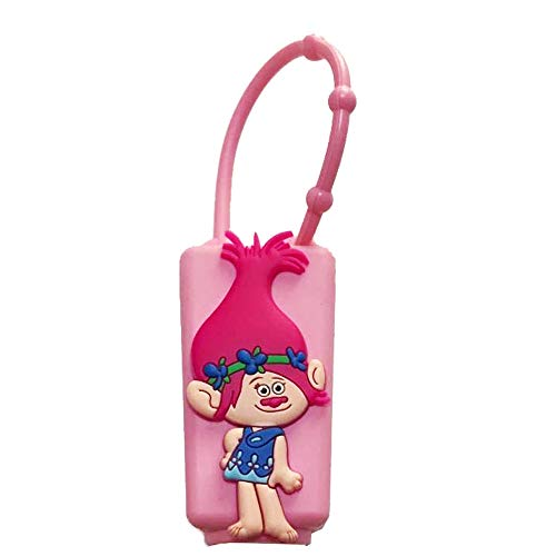 Poppy PVC Silicone Cover Compatible with 1 Oz Travel Size Lotion Hand Gel Sanitizer Holder Case