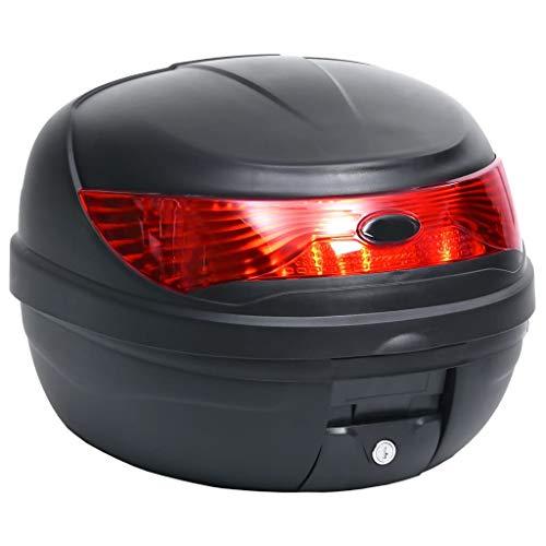 vidaXL Motorradkoffer für 1 Helm Wasserdicht Top Case Motorrad Roller Rollerkoffer Helmkoffer Topcase Koffer Motorradtasche Schwarz 35L