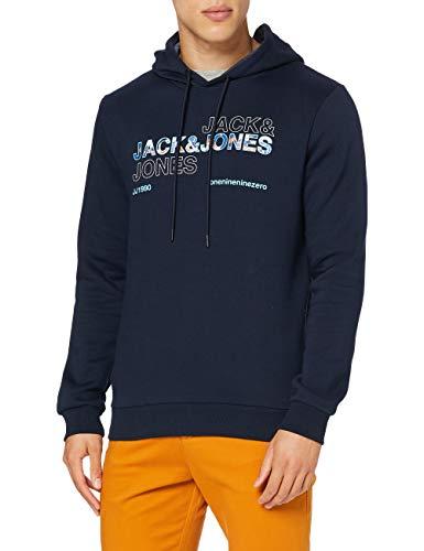 JACK & JONES Jcoart Sweat Hood Sweatshirt Capuche, Blazer Bleu Marine, L Homme