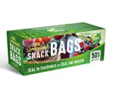 UNNI 100% Compostable Snack Bags, Resealable Compostable Food Storage Bags, 50 Count, 6.5 x 3.7 inches, Earth Friendly Highest ASTM D6400, US BPI and Europe OK Compost Certified, San Francisco