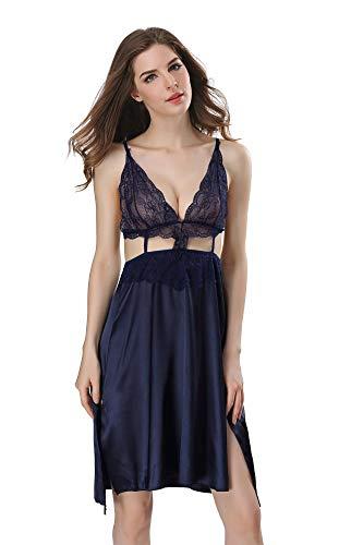 MAIMOMO Für Damen Erotische Kostüme Für Damen Unterwäsche Dessous Für Damen Blaue Europäische Und Amerikanische Heimatperspektive Sexy Lingerie Lingerie Slip Dress, Blau, M
