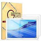ZhuoFan Templado Protector para Huawei Mediapad M5 Lite 10 10,1, Protector Cristal de Pantalla de Vidrio Premium Templado [9H Dureza] para Huawei Mediapad M5 Lite 10 10,1 Pulgadas, 2 Pack