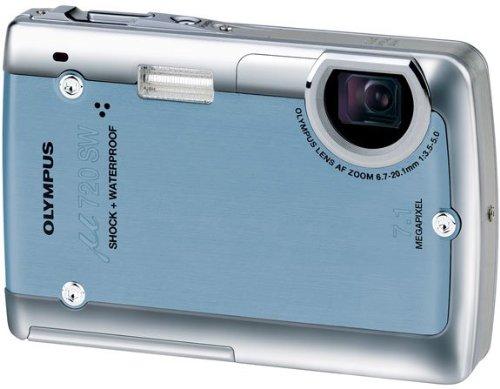 Olympus µ-Digital 720 SW Digitalkamera (7 Megapixel) blau