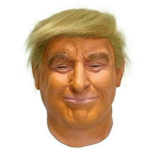 Poem Mscara de Celebridad Realista-Mscara de Candidato Presidencial Republicano-Mscara de Donald Trump-Cabeza Completa de ltex-Cabello, tamao Adulto