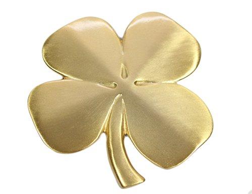Biddy Murphy Lucky Four Leaf Clover Ireland Wall Hanging Gold Lucky Shamrock Plated Pewter Irish Blessing Wall Decor